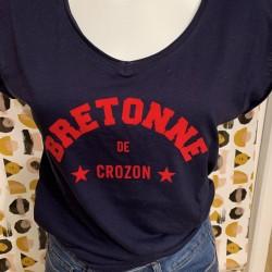 "Tee shirt ""bretonne de Crozon"""